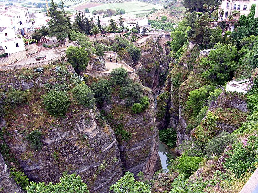 Ronda - Tajo canyon with Puente Romano in the background