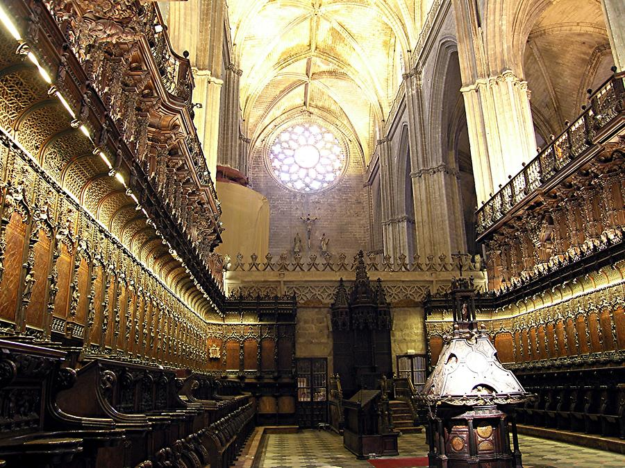 Seville Cathedral - Choir stalls