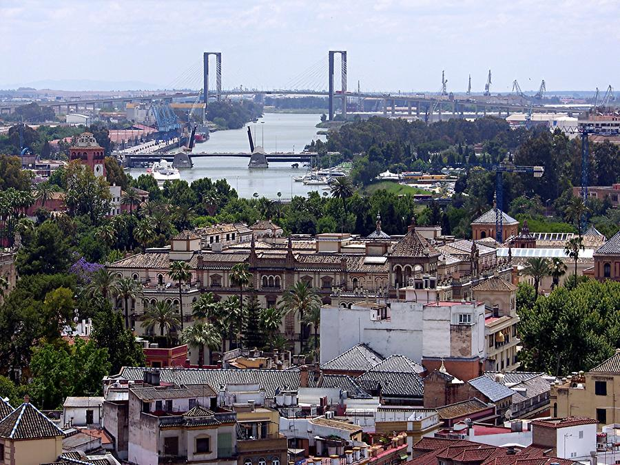 Seville Cathedral – View of river Guadalquivir