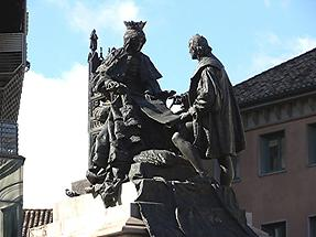 """Granada - Monument Isabel I. Queen of Castille and León (""""Isabel the Catholic"""" 1452-1504)"""