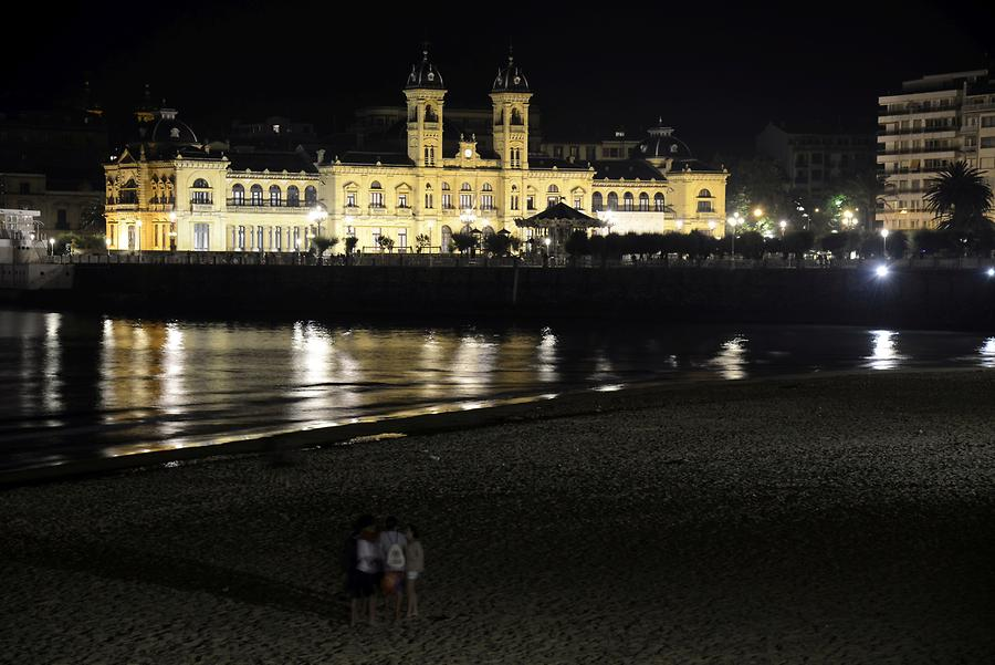 Casino San Sebastian at Night