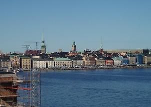 Stockholm harbor shoreline