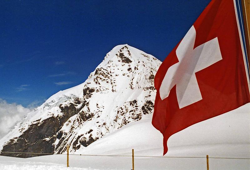 The Swiss flag