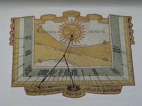 Bubikon - Tum der ref. Kirche - Sonnenuhr