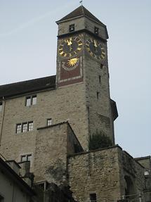 Rapperswil - Schlossturm - Turm- und Sonnenuhr (1)