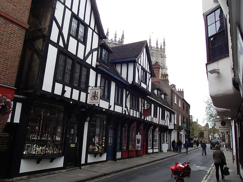 Timber-framed buildings in York