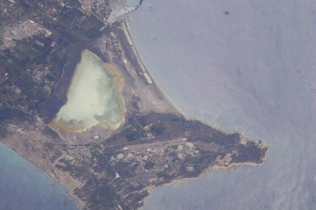 Salt lake on Akrotiri