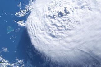 A large cloud bank