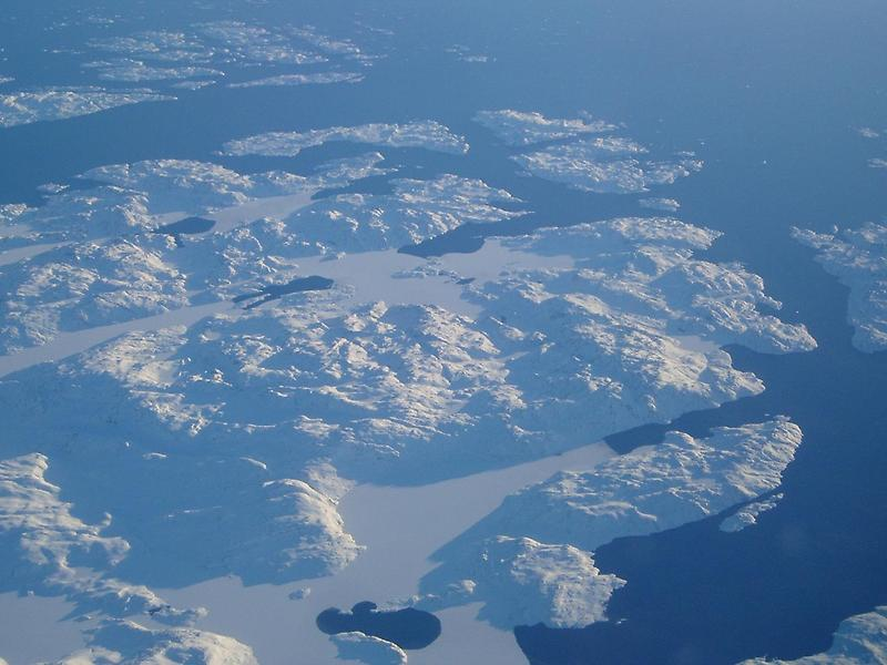 The coast of Greenland