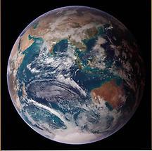 Satellite image of the globe