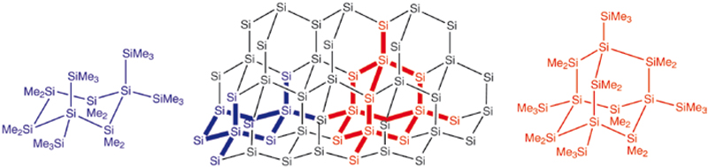 Kristallstruktur Silizium