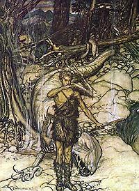 Siegfried mit getötetem Drachen