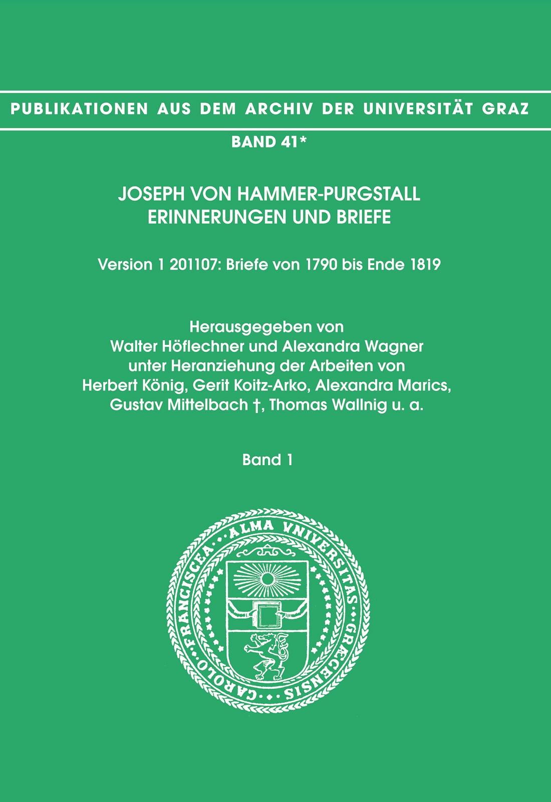 Briefe Von Und An Joseph Joachim : Joseph von hammer purgstall band