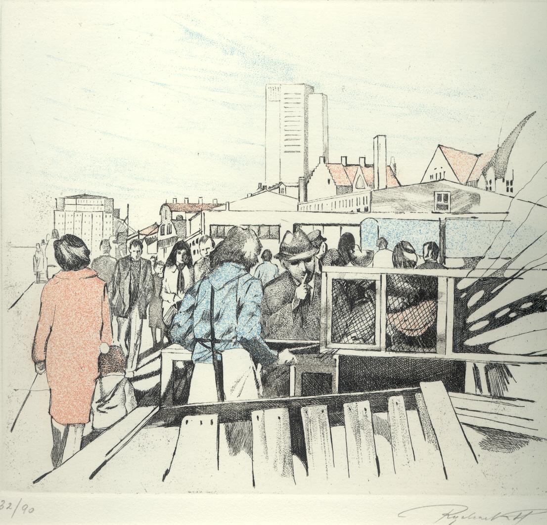 Besucher am fischmarkt landschaft bilddatenbank kurt for Am fischmarkt