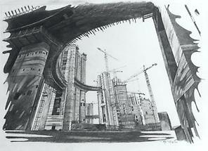 Bau der UNO CITY 42