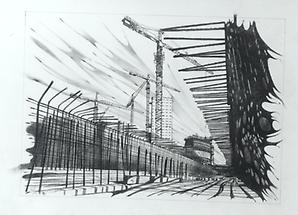 Bau der UNO City 40