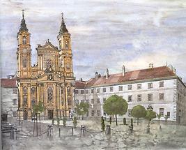 Kirche zu Maria Treu, Piaristenkloster