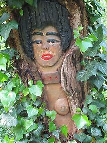 Baumschnitzerei Klimts Judith