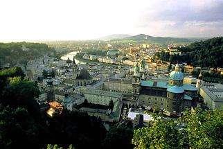 Salzburg Blick auf die Stadt