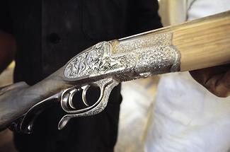 Jagdgewehr mit Verzierungen