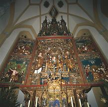 Kirche Heiligenblut, gotischer Altar