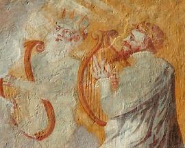 Grieskirchen - Schloss Parz Fresken der Aussenmauer
