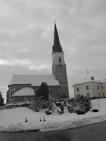 Haigermoos, Kirche im Winter