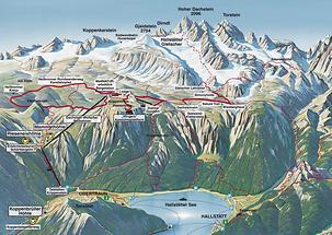 Obertraun - Überblickskarte Seilbahnen und Wege