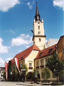 Rohrbach - Rathaus mit Kirche