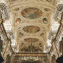 Schlierbach - Stift Schlierbach - Decke der Stiftskirche