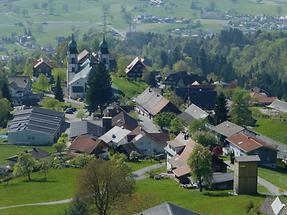 Blick auf den Ortsteil Dorf