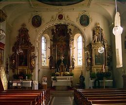 Schoppernau - Kirche innen