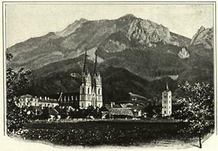 Admont, Zeichnung 1914