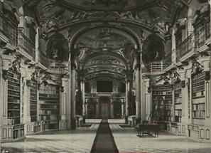 Bibliothek, Zeichnung 1914