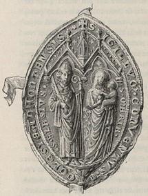 Konventsiegel des Stiftes Admont aus dem XIV. Jahrhundert