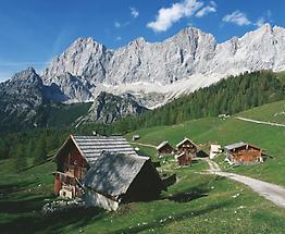 Neustattalm bei Ramsau mit Dachstein Südwand