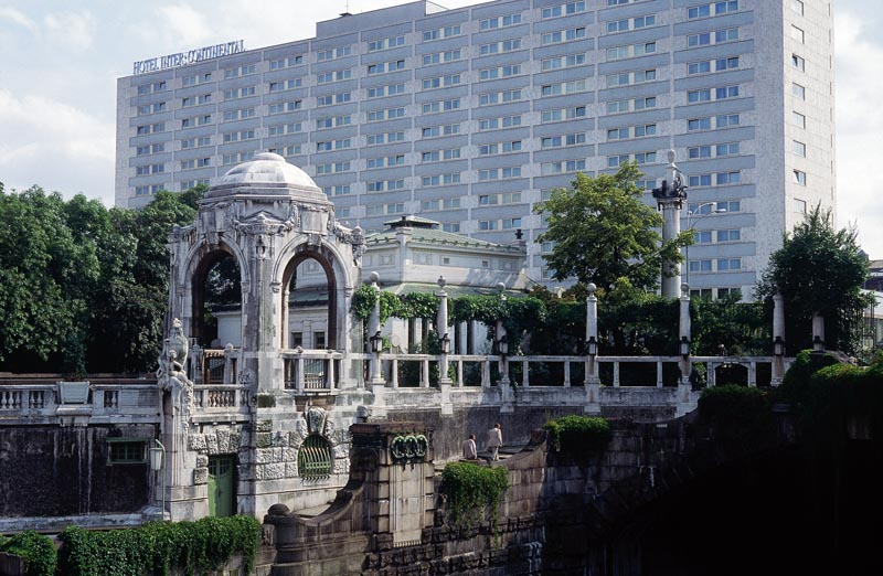 Stadtpark in Wien mit Hotel Intercontinental