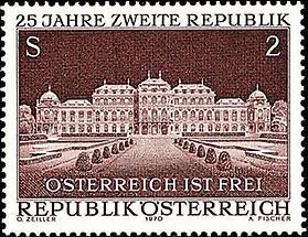 Zweite Republik - Schloß Belvedere