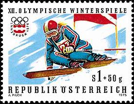 Olympische Winterspiele - Abfahrtsläuferin