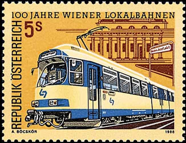 Wiener lokalbahnen 1988 briefmarken alltagskultur