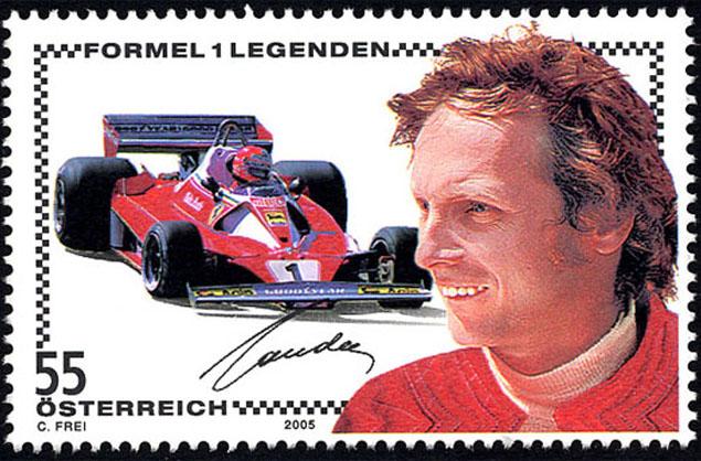 Niki Lauda 2005 Briefmarken Kunst Und Kultur Im Austria Forum