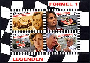 Briefmarke, Formel 1 Legenden