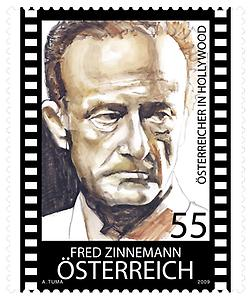 Briefmarke, Fred Zinnemann
