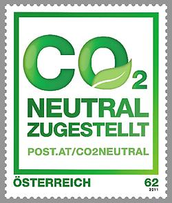 Briefmarke, CO2 Neutral Zugestellt