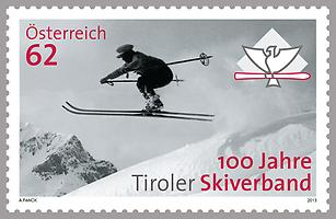 Briefmarke, 100 Jahre Tiroler Skiverband