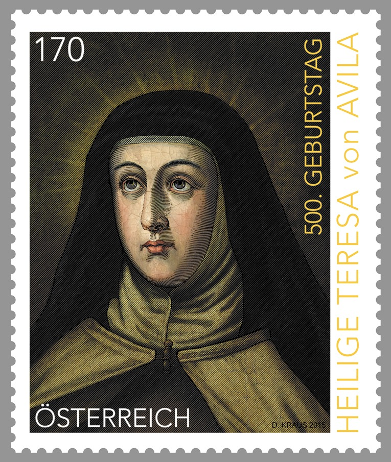Teresa von avila 2015 briefmarken kunst und kultur - Teresa von avila zitate ...