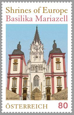 Briefmarke, Shrines of Europe – Basilika Mariazell