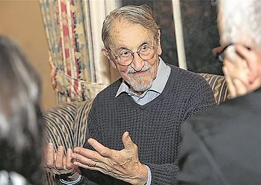 Martin Karplus im Harvard Faculty Club in Cambridge, USA