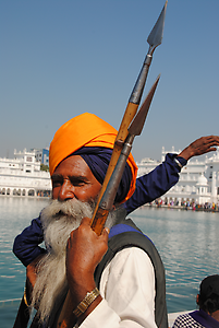 Sikhs are militant people. They like to appear with weapons