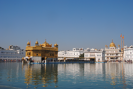 The Golden Temple of Amritsar is situated amid the Holy Sea of Amrita sagar